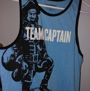 Team Captain Morgan Rum Tank Top Shirt Mens medium
